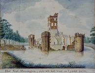 RISCH-65 Het Slot Honingen in 1574.