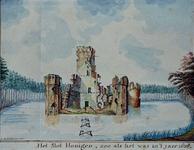 RISCH-68 Het slot Honingen, zoo als het was in 't jaer 1636.