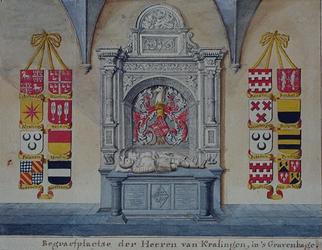 RISCH-76 Begraafplaats van de heren van Kralingen in Den Haag.