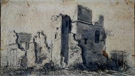 RISCH-76-A De ruïne van Huis Kranenburgh in Schieland anno 1573.