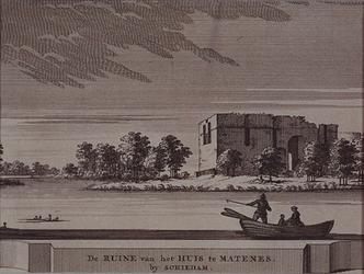 RISCH-79 De ruïne van het Huis te Matenes by Schiedam c. 1650.