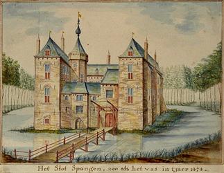RISCH-86 Het Slot Spangen in 1474.