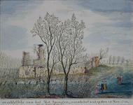 RISCH-89 Ruïne van het Slot Spangen op 24 November 1743.