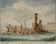 RISCH-90 Ruïne van het Slot Spangen op 24 november 1743.