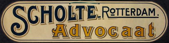 SCHOLTE-2003-180 Reclamebord voor advocaat van likeurfabriek A.J. Scholte te Rotterdam
