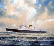SMZ-14 Ms. prinses Beatrix (11) varend op zee.