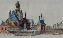 V-10-01 De Ooster Oude Hoofdpoort omstreeks 1643.