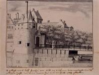 V-117 Gezicht op de Hofpoort aan de Pompenburgsingel.