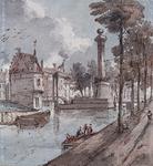 V-122 Gezicht op de Pompenburg en de Hofpoort.