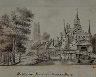 V-126 Gezicht op de Delftse Poort en de Blauwe brug.