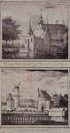 V-128-1-EN-V-111 Boven ( V 128-1 ): De oude Delftse Poort of Sint Jorispoort aan de Coolsingel.Onder ( V 111 ): Het ...