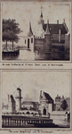 V-128-2-EN-V-110 Boven ( V 128-1 ): De oude Delftse Poort of Sint Jorispoort aan de Coolsingel.Onder ( V 110 ) : Het ...