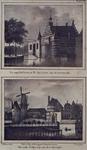 V-128-3-EN-V-109 Boven ( V 128-3 ): De oude Delftse Poort of Sint Jorispoort aan de Coolsingel.Onder ( V 109 ): Het ...