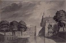 V-134 De Oude Delftse Poort vanuit het westen.