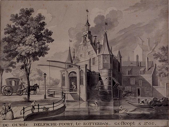V-138 De Oude Delftse Poort - St. Jorispoort - gesloopt in 1766.