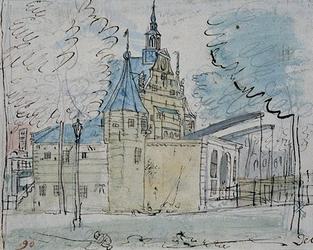 V-139 De oude Delftse Poort gezien vanuit het oosten,
