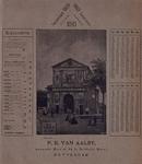 V-161 Prijslijst en kalender voor 1893 van P.E. van Aalst, Haagseveer bij de Delftse Poort