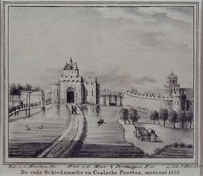 V-179 De Schiedamse Poort aan de Schiedamsedijk.
