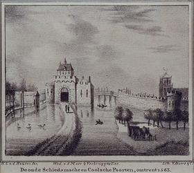 V-180 De Schiedamse Poort aan de Schiedamsedijk.