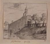V-185 Gezicht op de Schiedamse Poort uit het noordwesten, met op de voorgrond Schiedamsesingel.