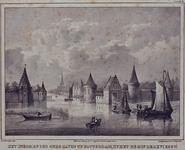 V-3 Gezicht op de Sint-Laurenspoort bij de Oudehaven.