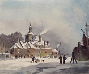 V-36 Ooster Oude Hoofdpoort uit het noordwesten bij winter.
