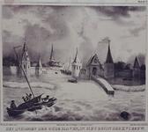 V-4 Gezicht op de Sint-Laurenspoort bij de Oudehaven.