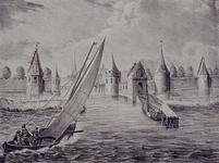 V-5 Gezicht op de Sint-Laurenspoort bij de Oudehaven.
