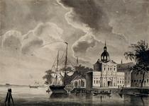 V-72 Wester Nieuwe Hoofdpoort gezien vanuit het noorden omstreeks het jaar1830.