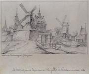V-77 De Oostpoort aan de zijde van de Hoogen Zeedijk te Rotterdam omstreeks 1660 .