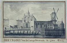 V-86-01 De Oostpoort van de Lange Warande te zien anno 1757.