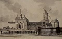 V-87 De Oostpoort van de Lange Warande te zien anno 1758.