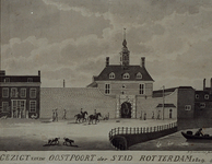 V-91 Gezicht op de Oostpoort te Rotterdam.