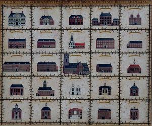 VI-2-2 Gezigt der voornaamste gebouwen binnen de stadt Rotterdam in 1786.