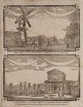VII-104-01 Boven: Gezicht op de Pompenburgsingel anno 1750.Onder: Gezicht op het Hofplein anno 1780.