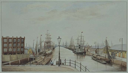 VII-123-00-03 Binnenhaven, uit het noordwesten.