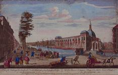 VII-129 Gezicht op de Blaak met de Beurs en de Gapersbrug, uit het zuidoosten.