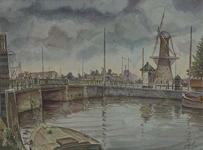 VII-154-07 Gezicht op het Boerengat met de Oude Oostbrug en op de achtergrond het Oostplein uit het zuidoosten.