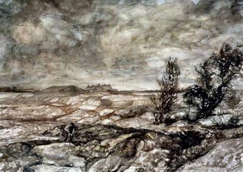 VII-168-00-00-02-2 Gezicht op het weggraven van de grond in verband met de aanleg van Europoort (in de Scheurpolder) te ...