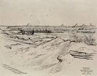 VII-168-00-00-117 Gezicht op het Europoortgebied aan de zuidkant van Rozenburg, met de tijdelijke brug over de ...
