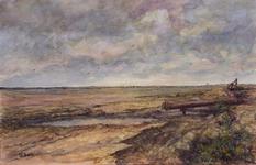 VII-168-00-00-15 Opspuitingen in de Noordbankpolder in verband met aanleg Europoort. Op de achtergrond Den Briel.