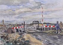 VII-168-00-00-33 Noodbrug over verbindingswater tussen baggerterrein in de Noordbankpolder en kanaal door Rozenburg, ...