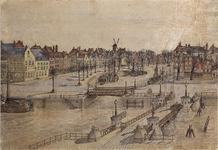 VII-176-04 Gezicht op het Haringvliet, vanaf de Koningsbrug naar het oosten.