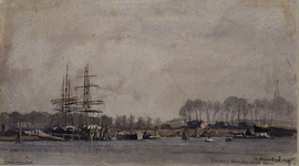 VII-190 Gezicht op vermoedelijk de 1e Katendrechtse haven.