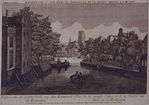 VII-191-03-1 Gezicht op de Kolk met rechts Westnieuwland, links Open Rijstuin en op de achtergrond de Korenbeurs ...