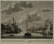 VII-242-II Het zuidelijk deel van de Leuvehaven gezien uit noordelijke richting. Links, met torentje, de brouwerij De ...