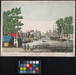 VII-245 Gezicht op de Leuvehaven, vanuit het noorden.