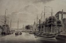VII-254-01 Gezicht op de Leuvehaven, uit het noorden.