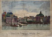 VII-257 Gezicht op de Leuvehaven met links de Zeevismarkt.