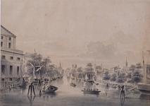 VII-258 Gezicht op de Leuvehaven, gezien uit het zuiden.